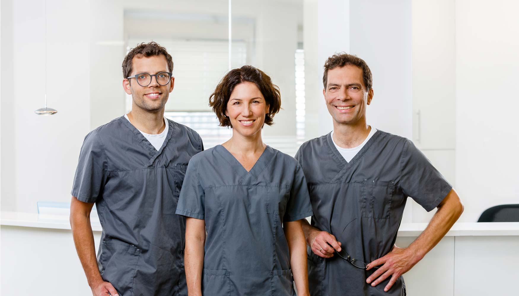 Dr. Julie Weitkamp, Dr. Thomas Pierchalla, Dr. Jürgen Pierchalla