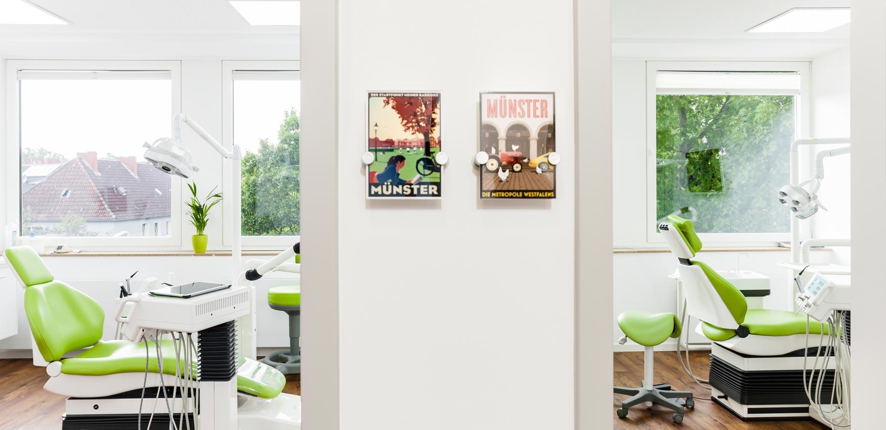 Behandlungsräume in der Zahnarztpraxis Pierchalla in Münster